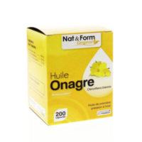 Huile d'Onagre bio (200 capsules) - Nat & Form