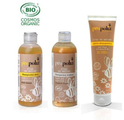 Après-Shampooing bio (150 ml) + Shampooing bio au choix (200 ml) - Propolia en Duopack